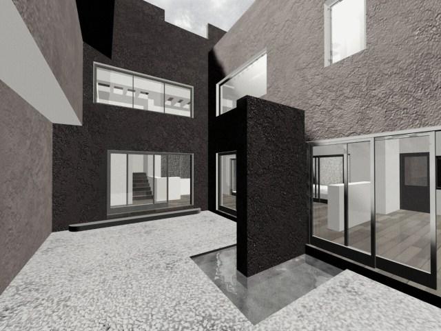 de proyecto para varias casas tipo de nivel medio, conjunto