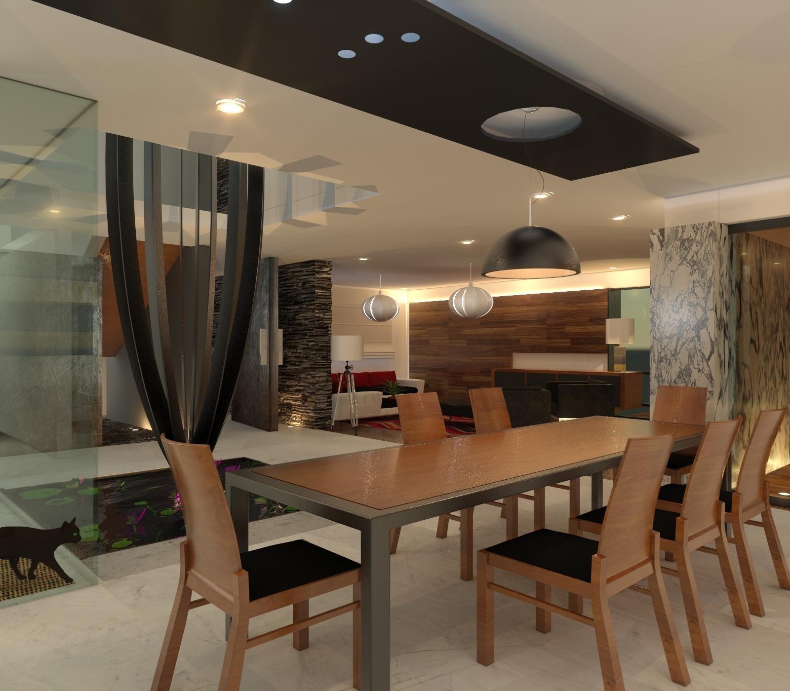 Dise o de interiores de casas residencias y departamentos for Diseno de interiores diseno contemporaneo